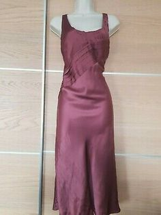 COAST Dusky Pink 100% Silk Evening Dress Size 12   eBay Dusky Pink Dress, Party Dresses Uk, Coast Dress, Gatsby Dress, Bardot Dress, Silk Slip, Asymmetrical Skirt, Stretch Dress, Evening Dresses