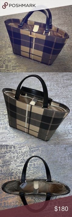"""Kate Spade Juno Plaid Handbag Hello and welcome to KimFinds. Please don't hesitate to ask any questions, bundle, or make an offer. Kate Spade juno plaid handbag. Dimensions are 8.25""""h x 10""""w x 4.5""""d. New with tags. kate spade Bags Mini Bags"""