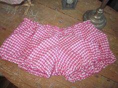 Culotte BIANCA en coton vichy fushia et blanc - noeud de dentelle de coton rose vif (6)