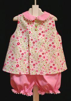 "Bridget Anderson's ""Floral Jackson"" by Children's Corner Frocks For Girls, Kids Frocks, Little Dresses, Little Girl Dresses, Girls Dresses, Toddler Outfits, Kids Outfits, Baby Frocks Designs, Baby Sewing"