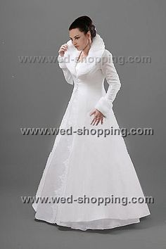 Bridal Coat Taffeta and Fur Collar and Cuffs  by BridalJackets, £101.00