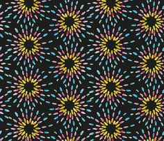 Rainbow Sunburst black custom fabric by colour_angel_by_kv for sale on Spoonflower Fabric Textures, Textures Patterns, Surface Pattern Design, Black Fabric, Custom Fabric, Spoonflower, Fabrics, Clay