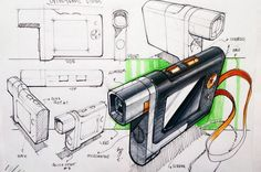 Video camera #idsketching #idsketch #idsketches #designsketching #productsketch…