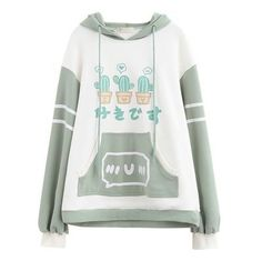 Harajuku cute cactus hoodie sold by Harajuku fashion. Shop more products from Harajuku fashion on Storenvy, the home of independent small businesses all over the world. Kawaii Fashion, Cute Fashion, Fashion Outfits, Style Fashion, Japanese Fashion, Asian Fashion, Cool Outfits, Casual Outfits, Kawaii Clothes