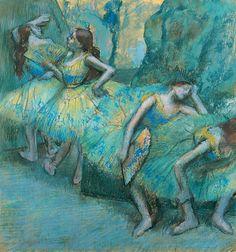Edgar Degas, Ballet Dancers in the Wings, 1900, pastel (via St. Louis Art Museum)