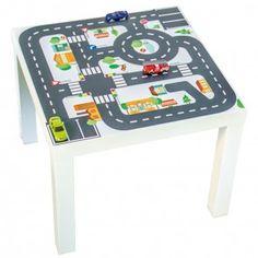 """Möbelfolie """"Kleine Stadt"""" für IKEA LACK Beistelltisch 55x55 cm 01"""