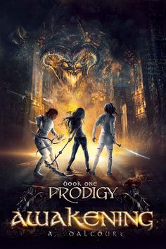 "Cover artwork ""Prodigy"" - Book one of the ""Awakening"" series by A. Dalcourt"