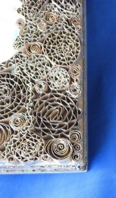 Corrugated cardboard mosaic inspiration. Gloucestershire Resource Centre http://www.grcltd.org/scrapstore/