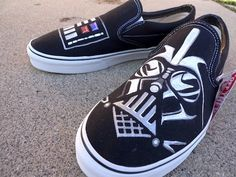 Darth Vader shoes - I bet I could find some canvas shoes on sale this time of year...