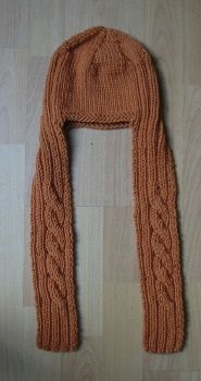 ca8a1ab522d Ravelry  Orange Twist Child Hat-Scarf pattern by Erika Flory