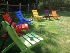 6 Chairs, 6 colors or all alike - Save 60 Dollars on Special Set Price! - choose from 10 colors! handcrafted by Laughing Creek