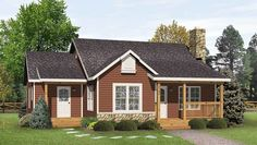 Plan 22081SL: Simple Country Cottage