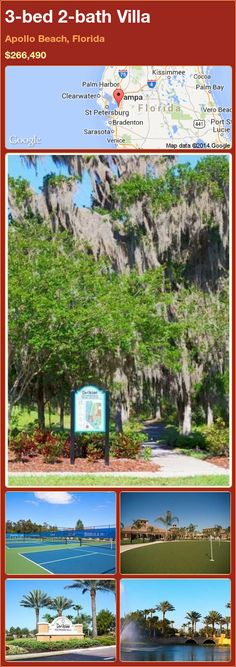 3-bed 2-bath Villa in Apollo Beach, Florida ►$266,490 #PropertyForSale #RealEstate #Florida http://florida-magic.com/properties/89087-villa-for-sale-in-apollo-beach-florida-with-3-bedroom-2-bathroom