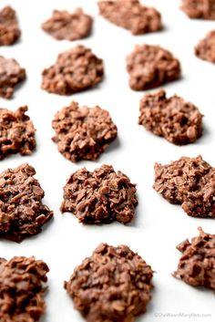 Chocolate Coconut Oatmeal No Bake Cookies Recipe | http://shewearsmanyhats.com/chocolate-coconut-oatmeal-no-bake-cookies-recipe/