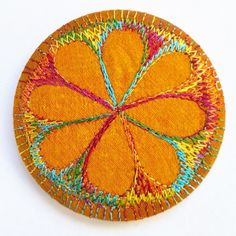 This is a handmade machine stitched fabric pocket mirror Made from layers of fabric including hand dyed Egyptian cotton and silk fabrics using the free machine embroidery style of sewing Size This will arrive wrapped in tissue paper and in a prett. Handmade Crafts, Handmade Items, Sending You A Hug, Christmas Craft Projects, Free Machine Embroidery, Organza Bags, Cool Items, Silk Fabric, Gifts For Her