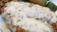 A truly dreamy creamy chicken Francese that tastes great over rice with vegetables on the side. Chicken Francese Recipe, Great Chicken Recipes, Winner Winner Chicken Dinner, Creamy Chicken, How To Cook Chicken, Food To Make, Cooking Recipes, Keto Recipes, Main Dishes