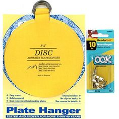 Flatirons Disc Adhesive Large Plate Hanger Set (4 - 4 Inch Hangers)  sc 1 st  Pinterest & Make Your Own Plate Hangers \u0026 My Dining Room Plate Wall | Plate ...