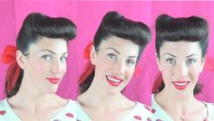 Classic PInup Bumper Bangs & Victory Rolls tutorial - Vintagious