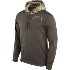 Men's Buffalo Bills Nike Olive Salute to Service Sideline Therma Pullover  Hoodie #ad