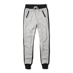 Abercrombie & Fitch Jogger Sweatpants ($9.99) ❤ liked on Polyvore featuring activewear, activewear pants, pants, light grey, vintage sweat pants, jogger sweatpants, vintage sweatpants, elastic cuff sweatpants and jogger sweat pants
