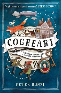Cogheart, lovely illustrated book cover design.