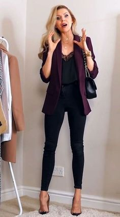 2019 Smart Casual Work Outfits to Try - Work Outfits Women Casual Work Outfit Summer, Casual Work Attire, Winter Outfits For Work, Spring Outfits, Outfit Work, Office Attire, Smart Casual Winter Outfits, Smart Casual Work Outfit Women, Office Wear