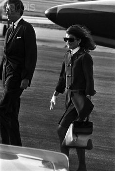 Jackie Kennedy heads to Los Angeles after the shooting of her brother-in-law, Senator Robert Kennedy, in June 1968.