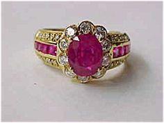 DIAMOND-RUBY RING