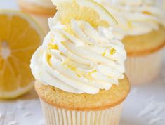 Lemon Coconut Cupcakes with Vanilla Buttercream Frosting are a delectable treat packed with the freshest lemon flavor! Bake a dozen and then share this lemon cupcakes recipe with your friends and family. Coconut Cupcakes, Fun Cupcakes, Cupcake Cakes, Lemon Cupcakes, Bundt Cakes, Lemon Frosting, Vanilla Buttercream Frosting, Cannoli Cupcake, Recipes