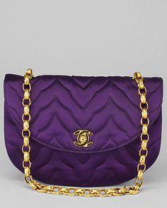 Chanel Amethyst Satin Evening Bag