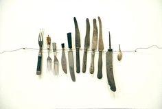 anu tuominen, found cutlery