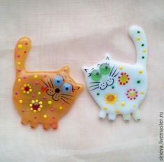 Магниты ручной работы. Ярмарка Мастеров - ручная работа. Купить Магнит Цветочный Кот. Handmade. Комбинированный, рыжий кот