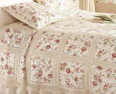 combinación tela y crochet