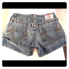 True Religion Jean Shorts True Religion Jean Shorts Size 27 True Religion Shorts Jean Shorts