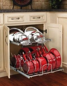Awesome organizer for the kitchen available at Lowes Home Improvement. Tired of hunting for the right lid to that pan? Never again. I need this! Organization