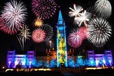 canadian fireworks | Ottawa, Canada New Year Fireworks Display Photo :