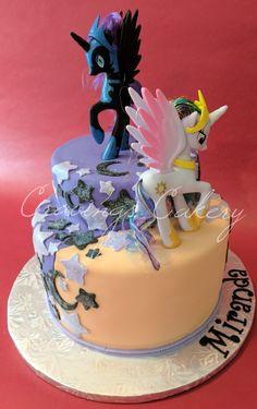 Nightmare Moon and Princess Celestia birthday cake