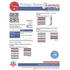 Postage Stamp Journey Classic & Vintage Quilt Block | Free PDF Fat Quarter Shop Exclusive | Fat Quarter Shop Block Patterns, Pattern Blocks, Fat Quarter Shop, Vintage Quilts, Postage Stamps, Quilt Blocks, Free Pattern, Journey, Fabric