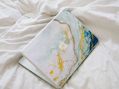 Hey, I found this really awesome Etsy listing at https://www.etsy.com/listing/241808016/glitter-agate-macbook-decal-blue-yellow