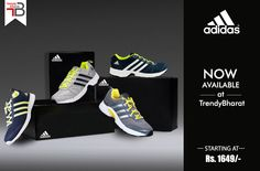 We are happy to announce that your favourite brand Adidas is on TrendyBharat.com now. Explore our cool & sturdy collection: