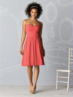 After Six Bridesmaids Style 6609 http://www.dessy.com/dresses/bridesmaid/6609/?color=tangerine%20tango&colorid=1191#.UmKz7C-9Kc0