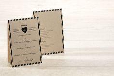 Laat alle genodigden weten wat er op het menu staat met deze mooie eco-kaart! #trouwen #happymoment | tadaaz.be
