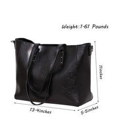 3e51523c51 Women Handbags Tote Top Handle Bags Shoulder Bags Large Capacity Shopping  Bags Satchel Crossbody Purse - Black - C218026L72E