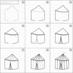 How to draw a circus tent.