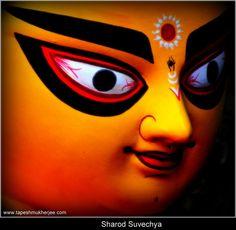 Ma Durga in Bengali traditional form. Photo by Tapesh Mukherjee, 2012 Durga Maa, Durga Goddess, Durga Painting, Puja Room, Base, Hinduism, Kolkata, Halloween Face Makeup, Digital Art