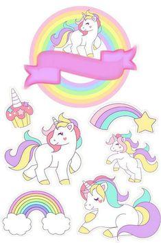 My Little Pony Unicorn, Baby Unicorn, Unicorn Art, Unicorn Cupcakes Toppers, Unicorn Cake Topper, Cupcake Toppers Free, Unicorn Wallpaper Cute, Unicorn Themed Birthday Party, Unicorn Pictures