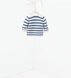 Striped knit sweater-JACKETS-MINI   0-12 months-KIDS   ZARA United States