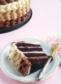Candy's: Gesztenyés-csokis (ombre) torta Cake Cookies, Tiramisu, Tart, Sweets, Candy, Ethnic Recipes, Food, Diy, Gourmet