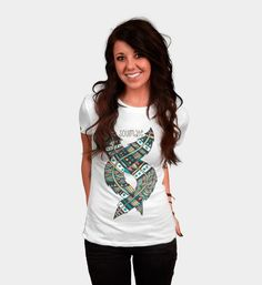 Soulmate Feathers is a Women's T Shirt designed by Pom Graphic Design to illustrate your life and is available at Design By Humans #tshirt #apparel #clothing #designertee #wearableart #creative #slimfit #feather #Tribalfeather #feathers