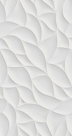Interesting pattern with a lot of variation in the shape to keep it interesting for the eye. Plays well with light and the single color keeps it from becoming busy. 3d Design, Wall Design, Pattern Design, Design Color, White Wallpaper, Wallpaper Backgrounds, White Backgrounds, Wallpapers, Wall Patterns
